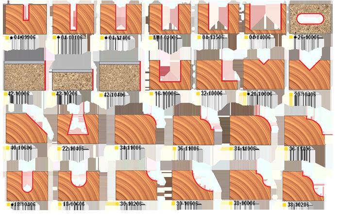 Комплект из 26 концевых фрез. Серия 92-10006.