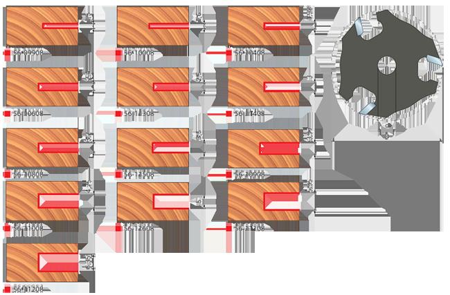 Фрезы  пазовые  дисковые
